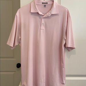 Peter Millar golf shirt pink and white